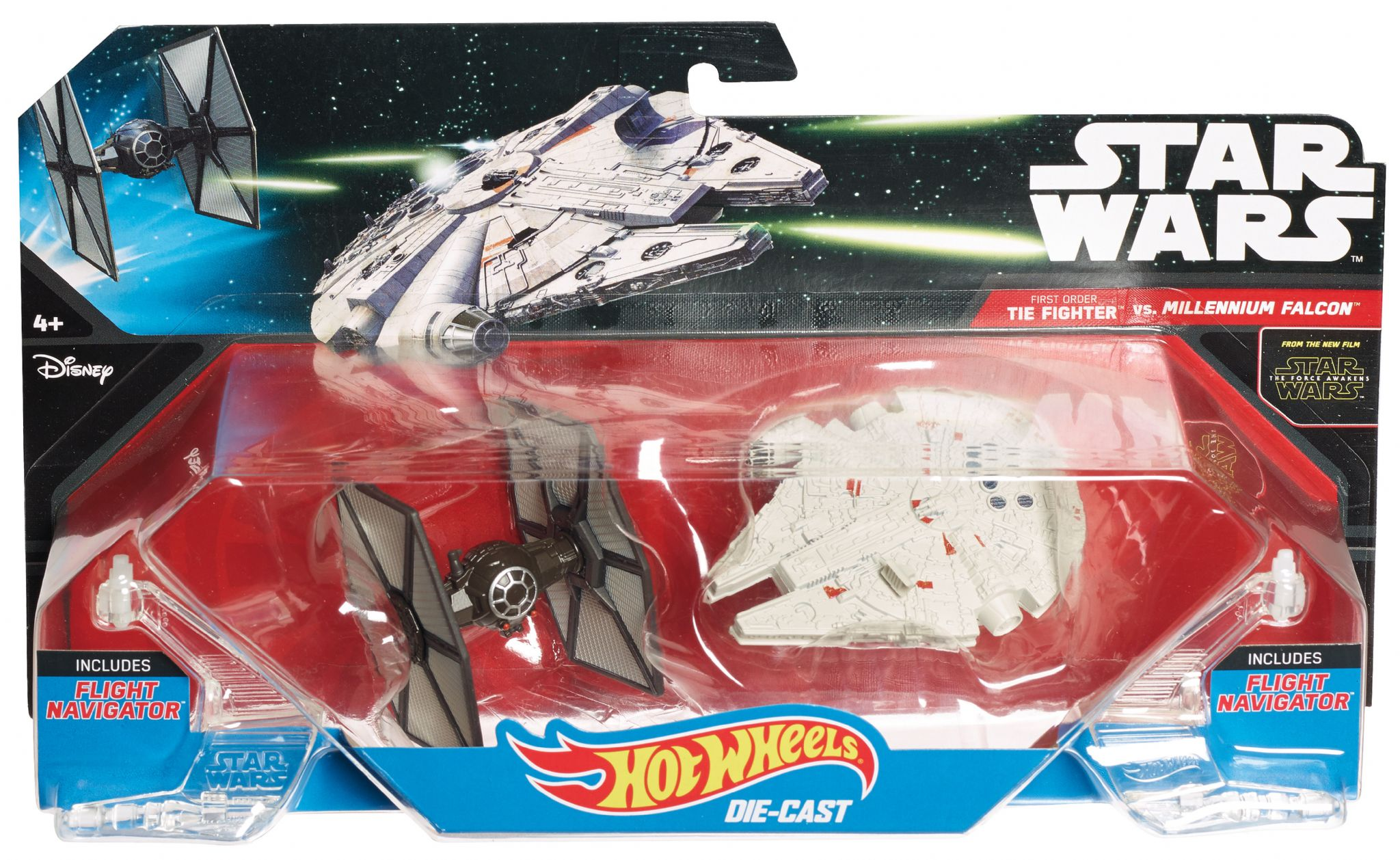 Star Wars Hot Wheels Tie Fighter vs Millennium Falcon Playset