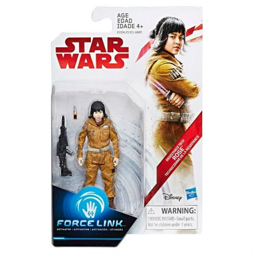 "Star Wars The Orange Series 3.75"" Force Link Action Figure - Rose Resistance Tech"